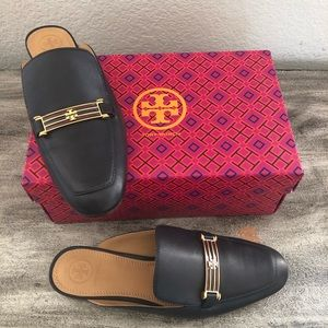 Tory Burch Navy Amelia Backless Loafer mules